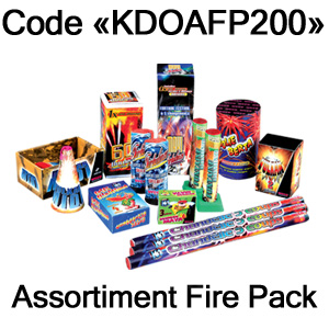 200€ d'achat minimum, d'une valeur de 29,90€ - Assortiment Fire pack