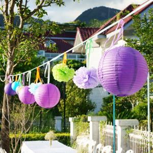 Boule japonaise boule en papier d coratif d coration en for Boule metal deco jardin